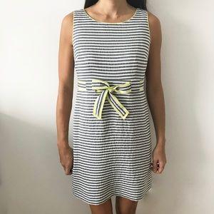Ann Taylor LOFT Striped Dress with Ribbon Tie